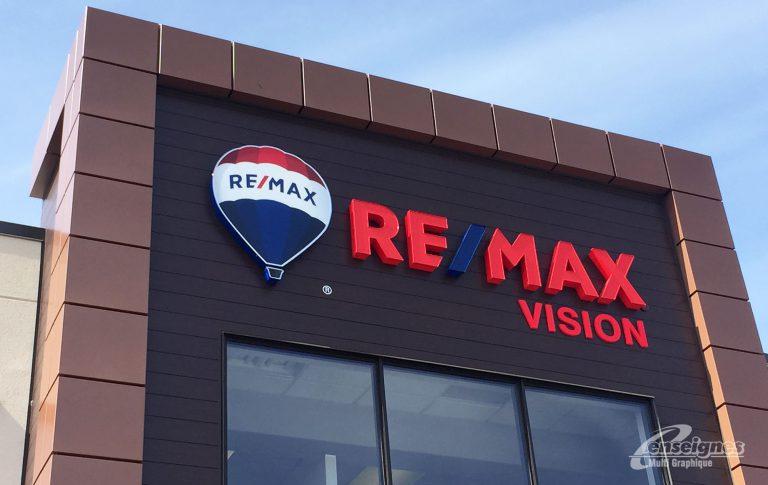 Enseigne lettres channels REMAX