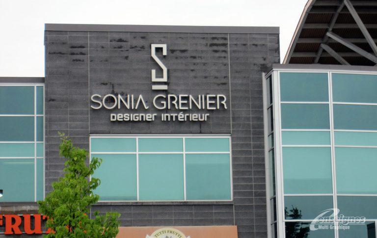 Enseigne lettres reverse channels SONIA GRENIER