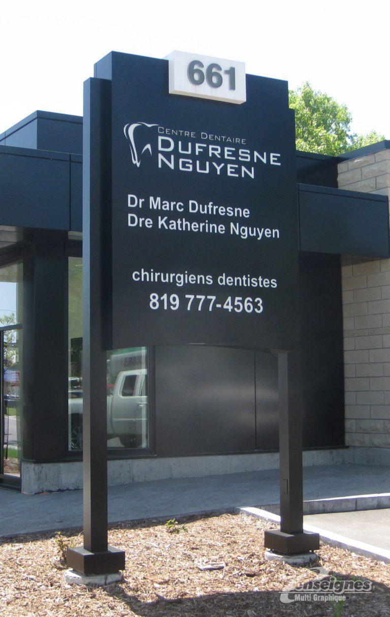 enseigne-pylone-centre-dentaire-dufresne-nguyen