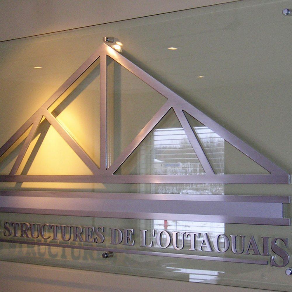 Enseigne acrylique Les Structures de l'Outaouais