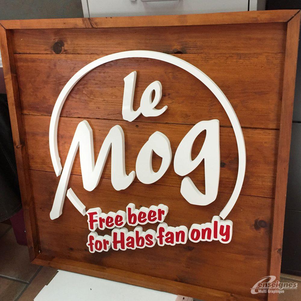 Enseigne lettres 3D LE MOG