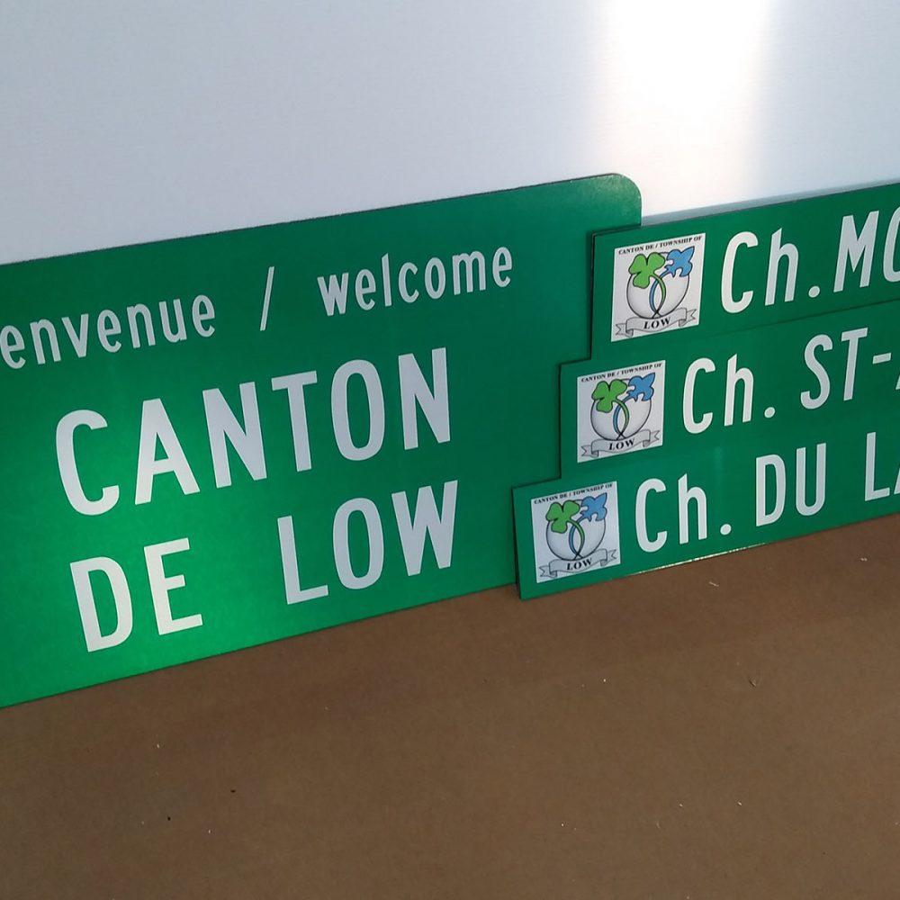 Panneau de signalisation CANTON DE LOW