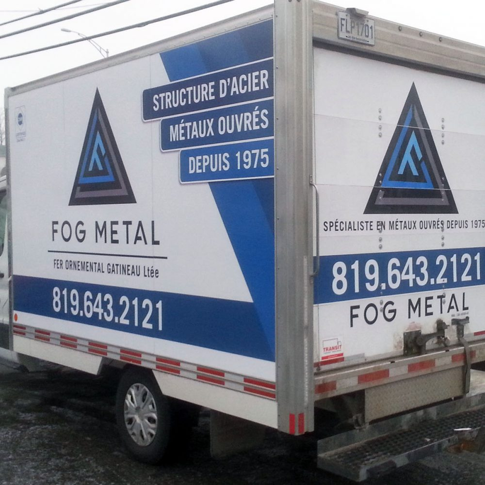 Wrap camion cube FOG METAL