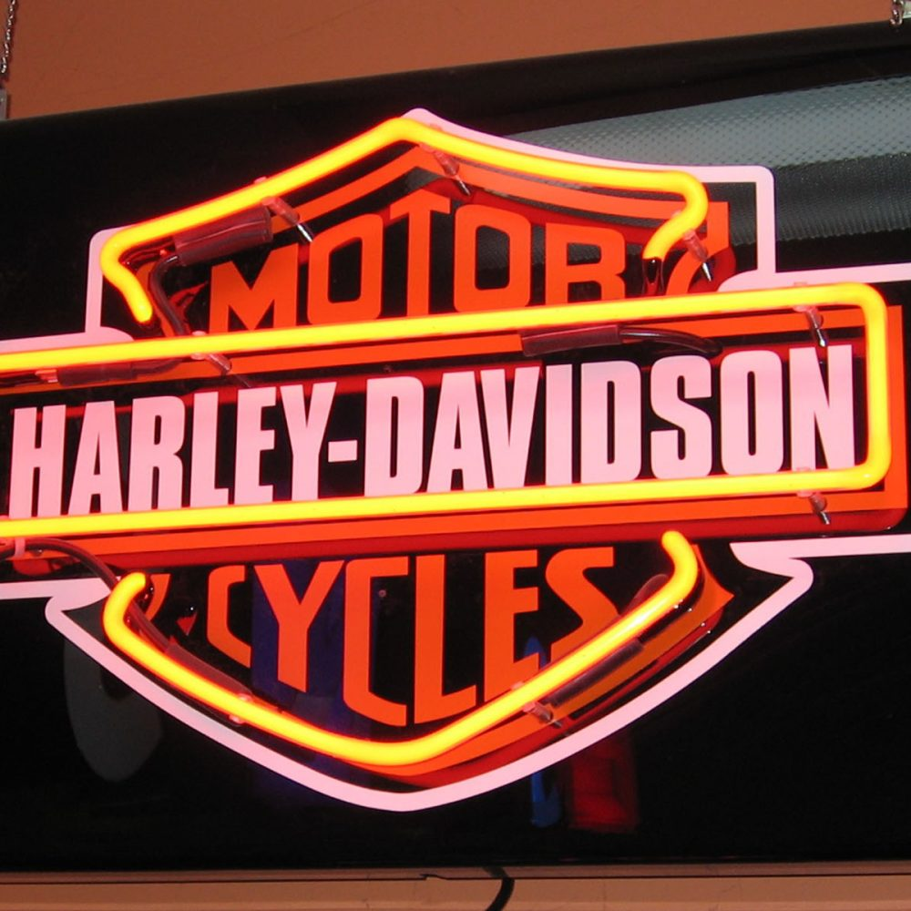 Enseigne néon rétro HARLEY DAVIDSON