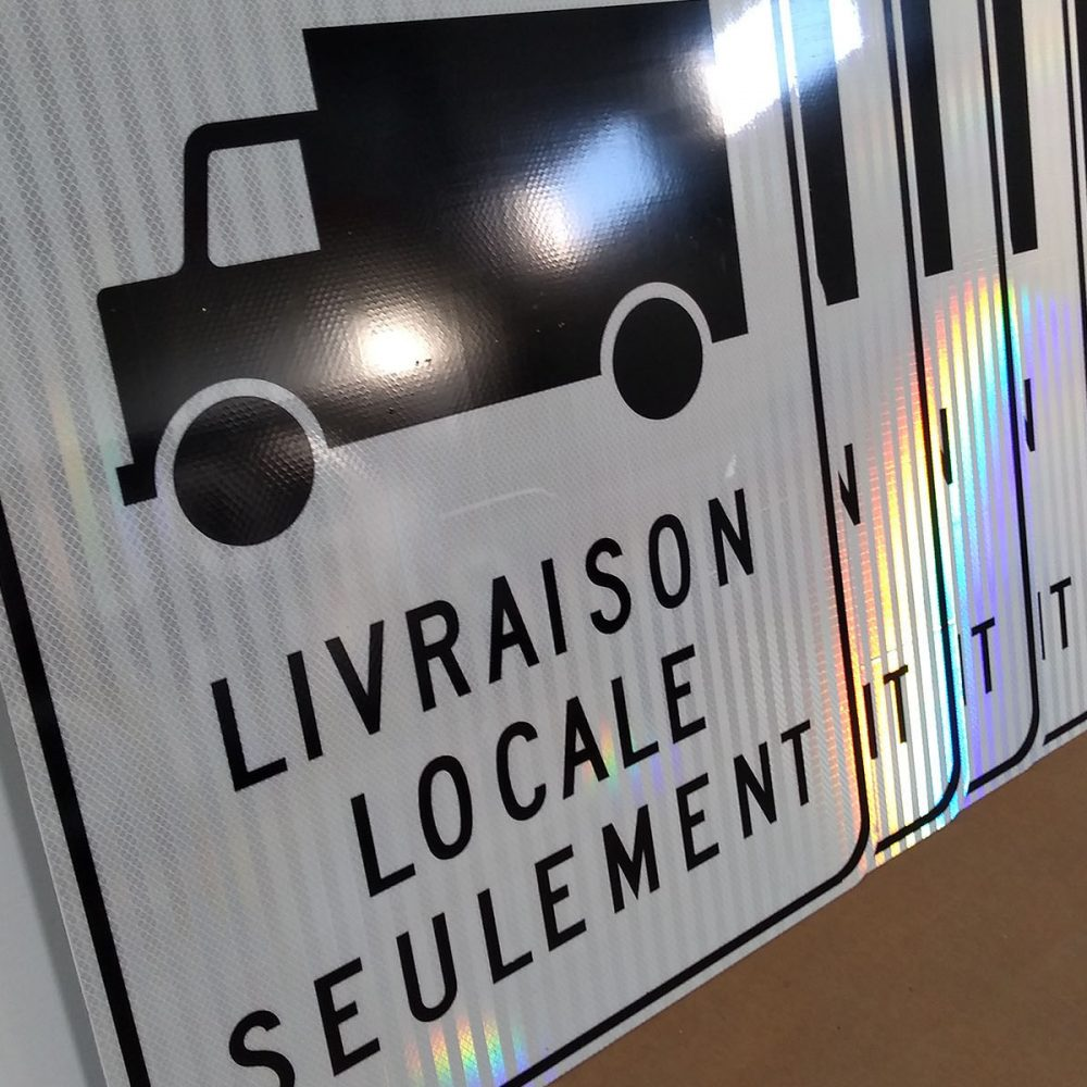 Panneau de signalisation routière LIVRAISON LOCALE